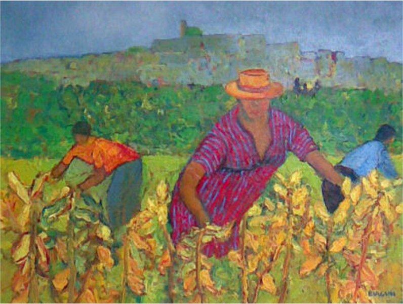 Pannocchie a Castagneto - Olio su tela 40x50 Anno 2009 Coll. Privata