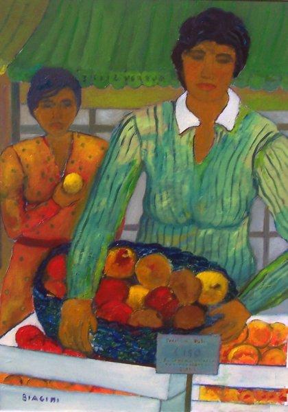 Market di frutta   Olio su tela 50x70  Anno 2013