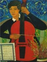 La musicista - Olio su cartone 65x85 Anno 2003 Coll. Privata