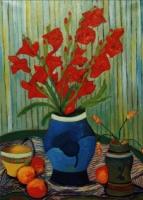 Gladioli - Olio su tela 60x80 Anno 2000 Coll. Privata