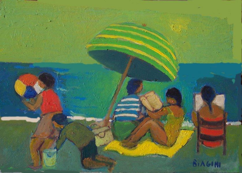 2015  I bambini al mare  Olio cartone 20x30.jpg