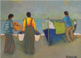 Barca da pesca - Olio su cartone 30x40  Anno 2010  Coll. Privata