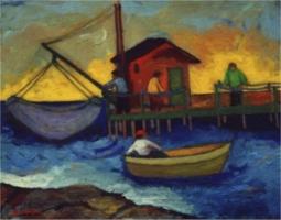 Retone con barca - Olio su tela 40x50  Anno 2002   Coll. Privata