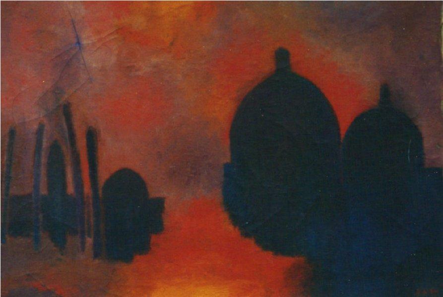 Venezia . Olio su tela 50x70 Anno 1979  Proprietà dell'artista