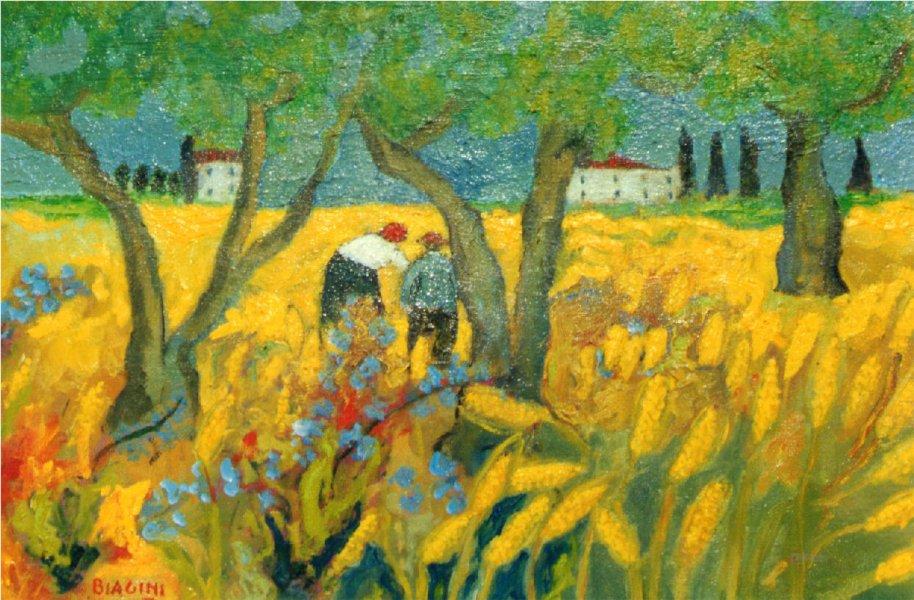 Toscana - Olio su tela 40x60  Anno 2001 Coll. Privata