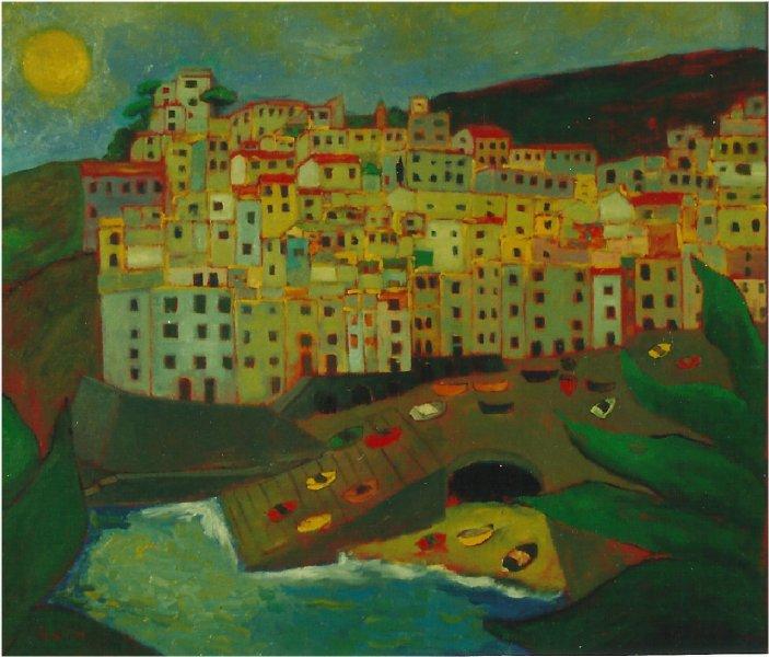 Riomaggiore - Olio su tela 60x70  Anno 2002  Coll. Privata