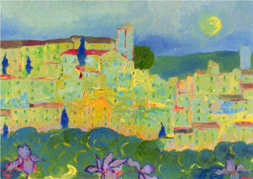 Panorama Castagnetano - Olio su cartone 50x70  Anno 2006  Coll. Privata