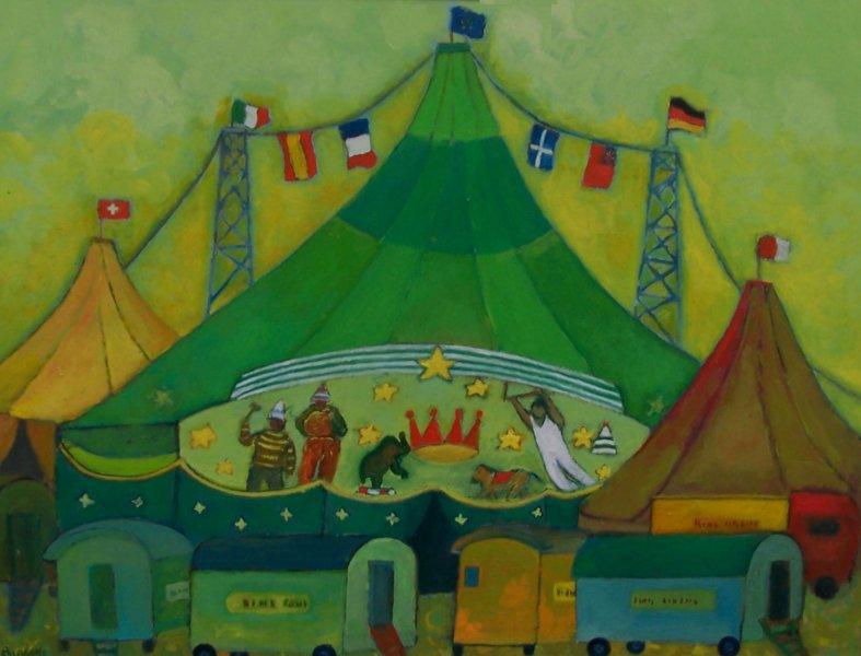 Circo Kings  Olio su cartone 60x80  Anno 2012